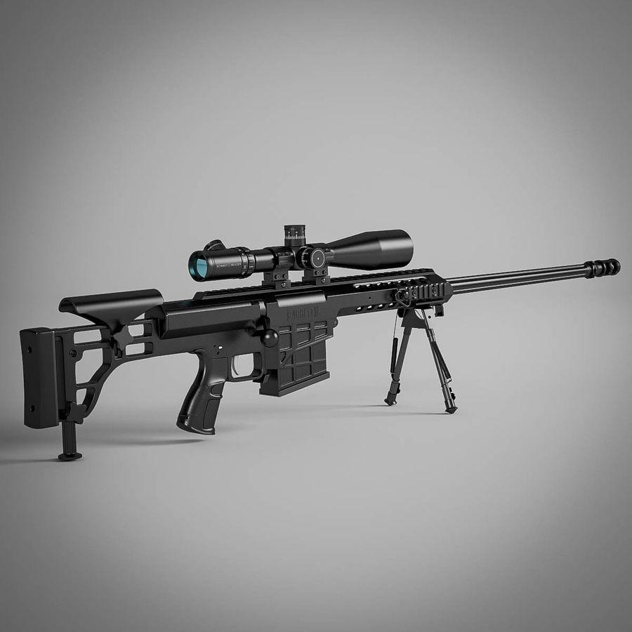 Sniper rifle Barrett M98B royalty-free 3d model - Preview no. 2