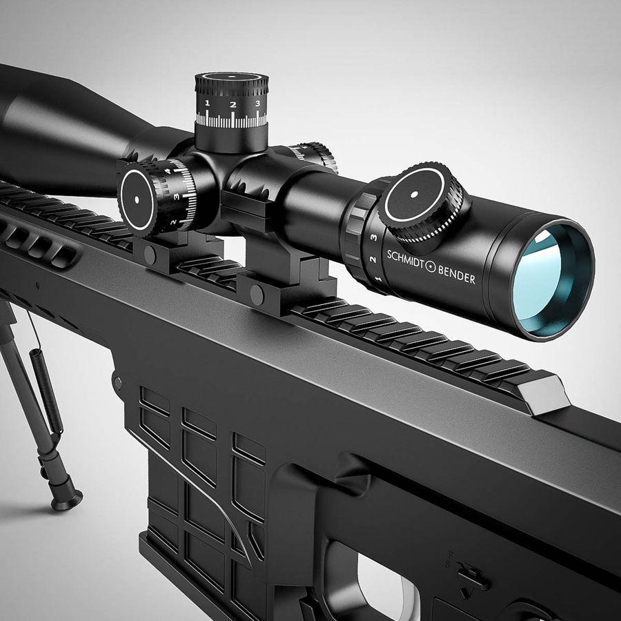 Sniper rifle Barrett M98B royalty-free 3d model - Preview no. 18