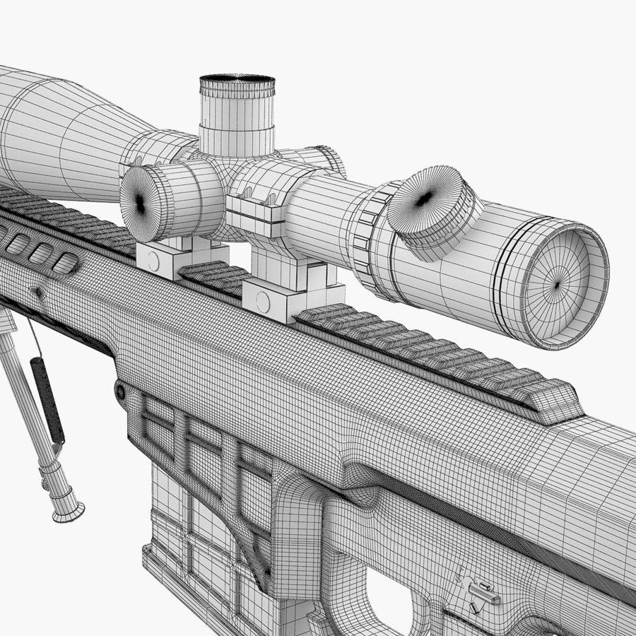 Sniper rifle Barrett M98B royalty-free 3d model - Preview no. 19