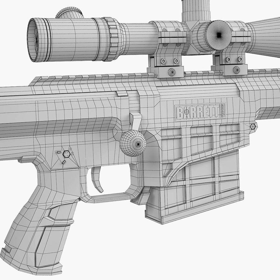 Sniper rifle Barrett M98B royalty-free 3d model - Preview no. 11