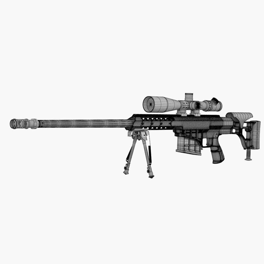 Sniper rifle Barrett M98B royalty-free 3d model - Preview no. 6