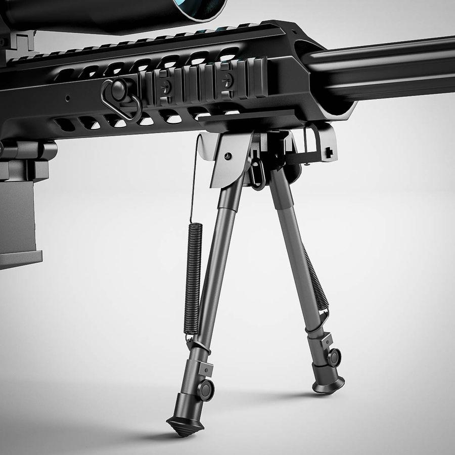 Sniper rifle Barrett M98B royalty-free 3d model - Preview no. 15
