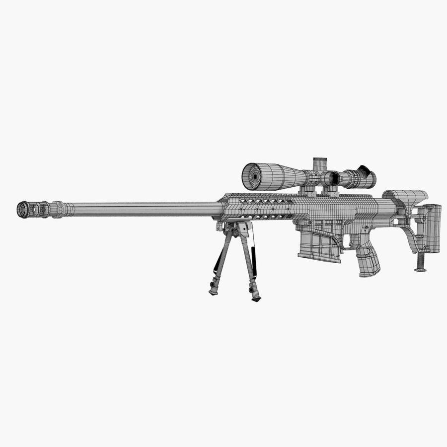 Sniper rifle Barrett M98B royalty-free 3d model - Preview no. 7