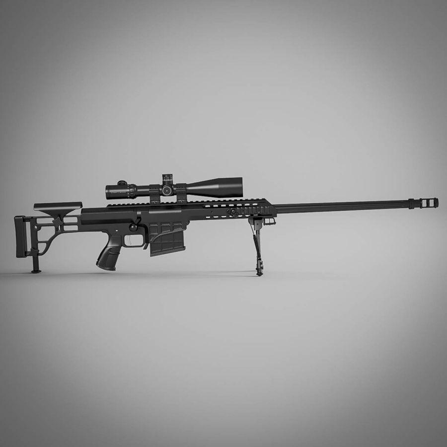 Sniper rifle Barrett M98B royalty-free 3d model - Preview no. 8
