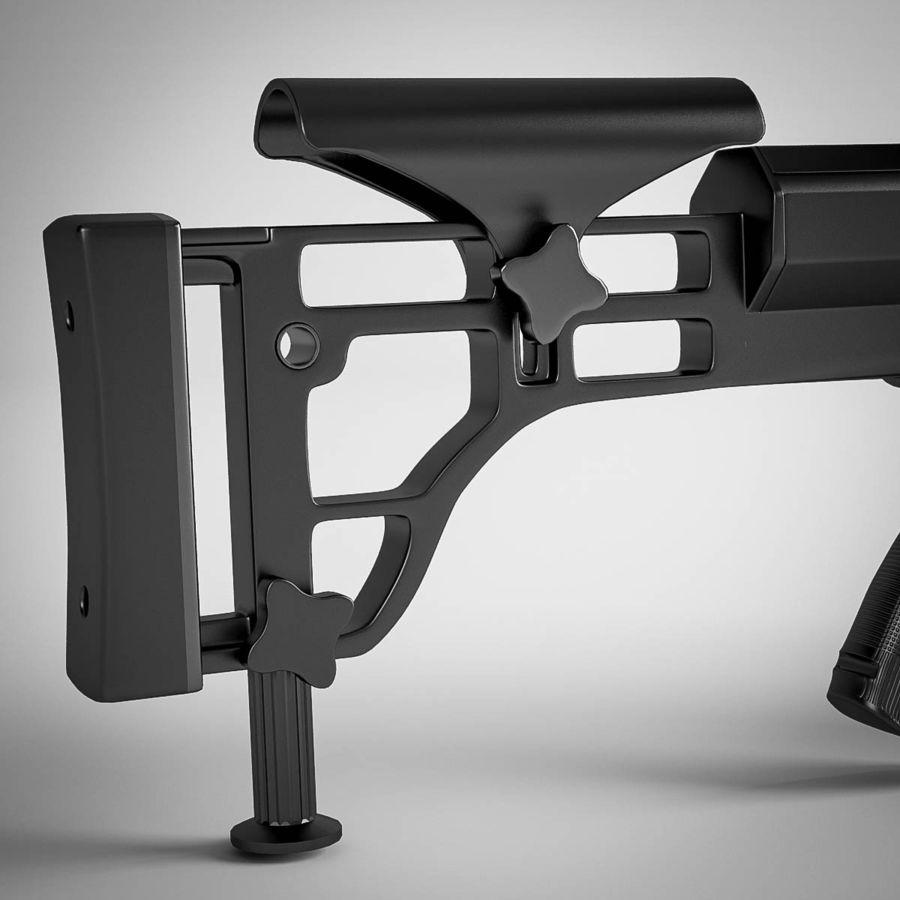 Sniper rifle Barrett M98B royalty-free 3d model - Preview no. 12