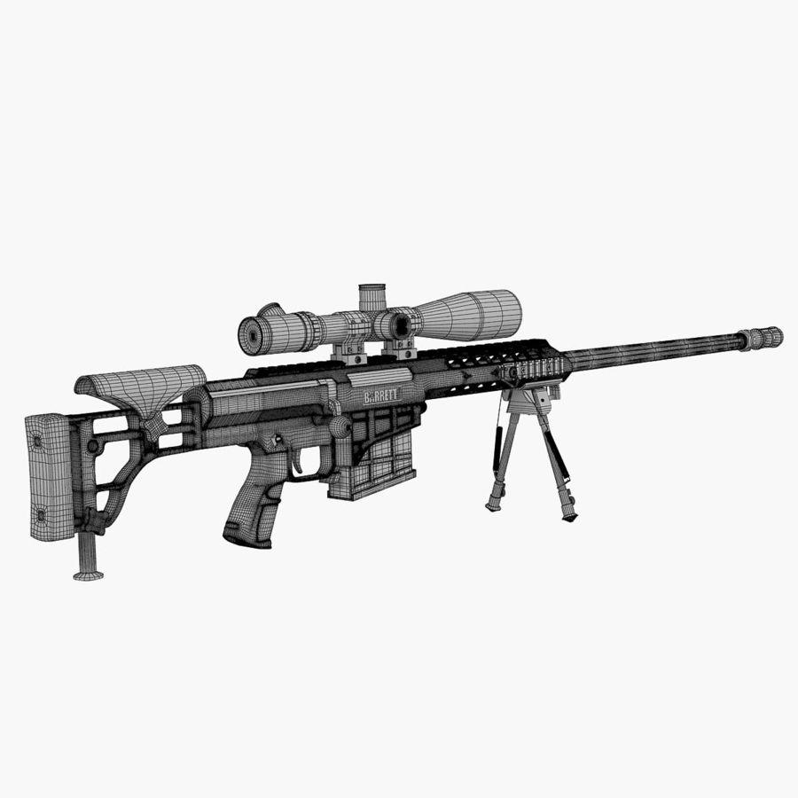 Sniper rifle Barrett M98B royalty-free 3d model - Preview no. 3