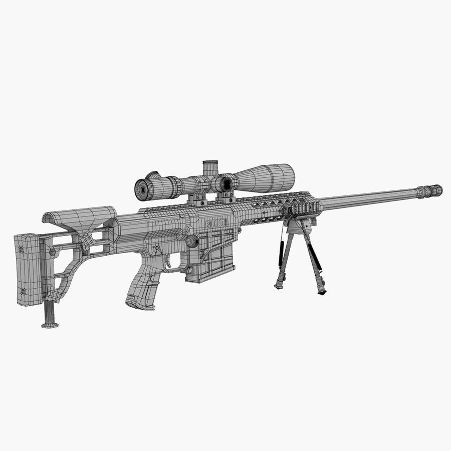 Sniper rifle Barrett M98B royalty-free 3d model - Preview no. 4