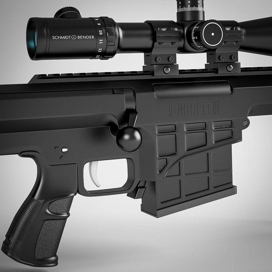 Sniper rifle Barrett M98B royalty-free 3d model - Preview no. 9