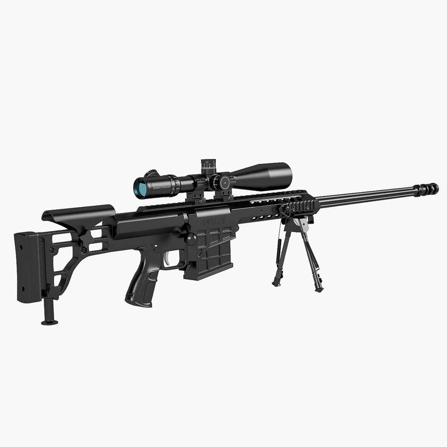 Sniper rifle Barrett M98B royalty-free 3d model - Preview no. 1