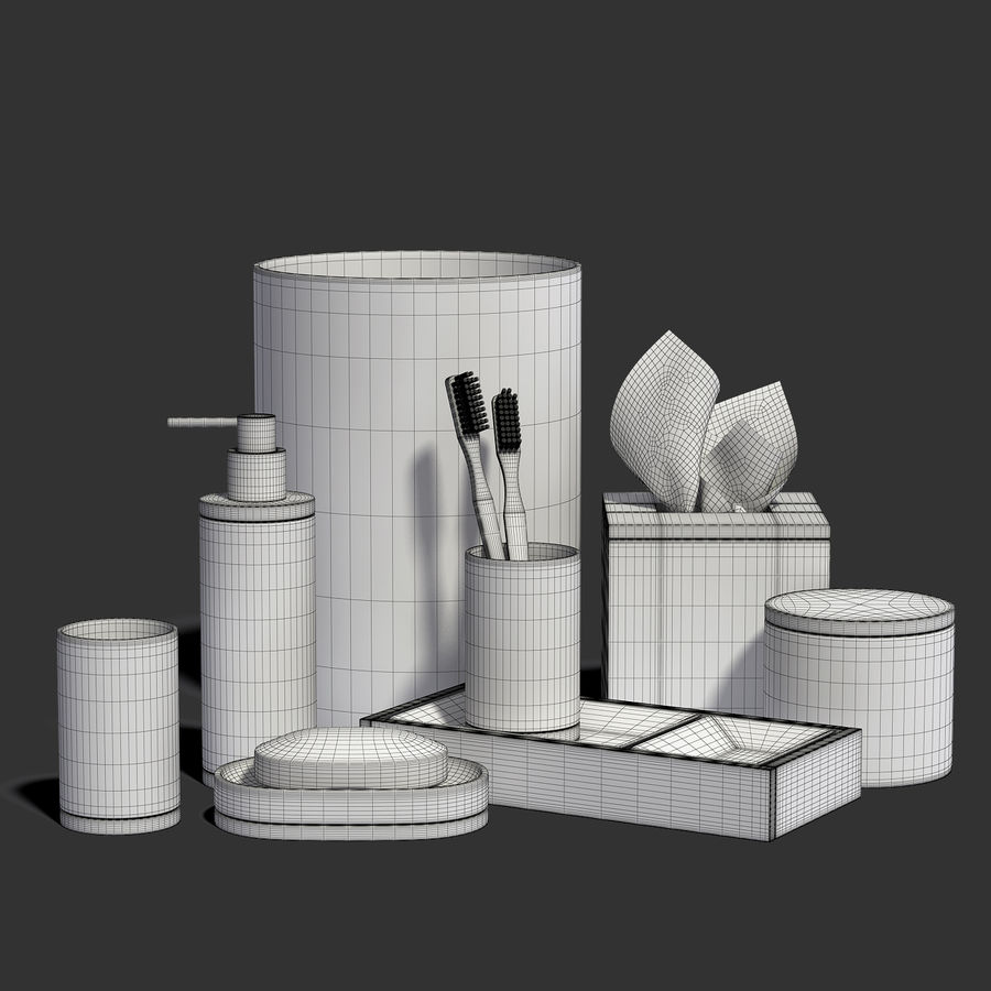 Bathroom Accessories  #1 royalty-free 3d model - Preview no. 7