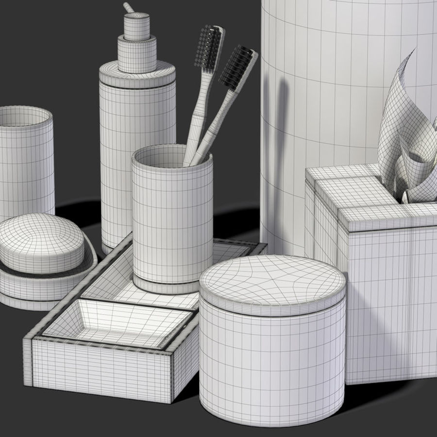 Bathroom Accessories  #1 royalty-free 3d model - Preview no. 8
