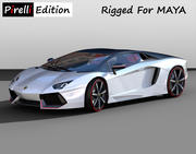 Lamborghini Aventador LP700-4 Pirelli Edition [Rigged] 3d model