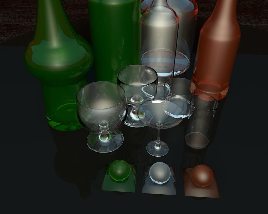 Flessencollectie royalty-free 3d model - Preview no. 4
