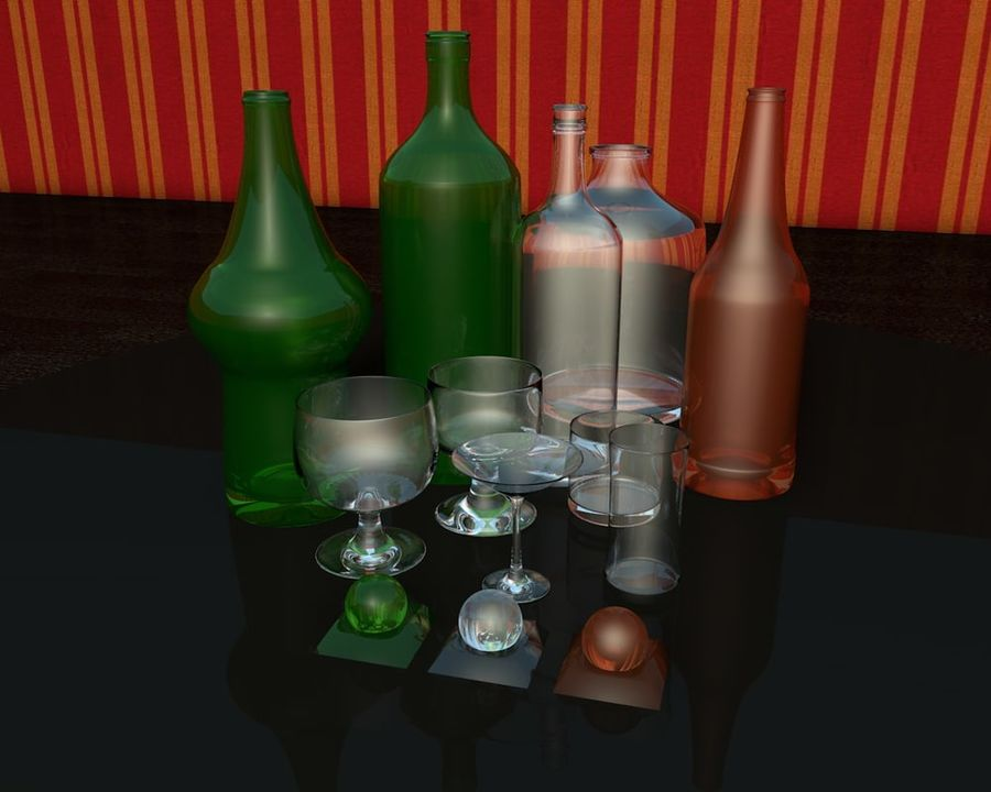 Flessencollectie royalty-free 3d model - Preview no. 2