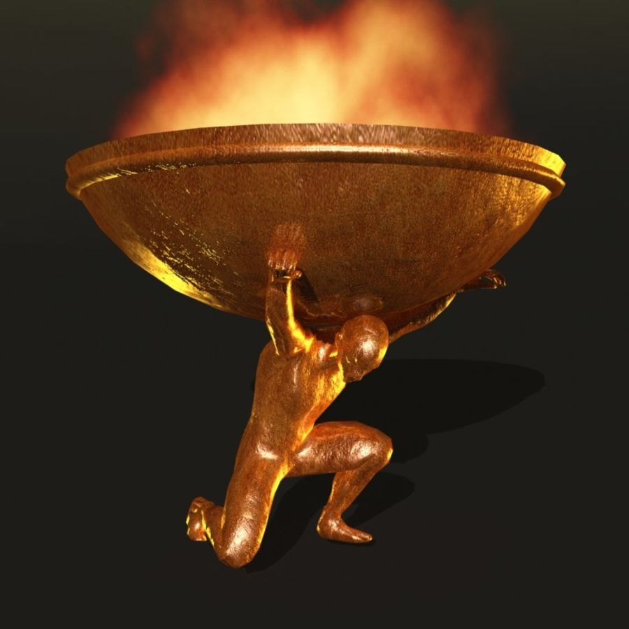 Bronze Statue royalty-free 3d model - Preview no. 1