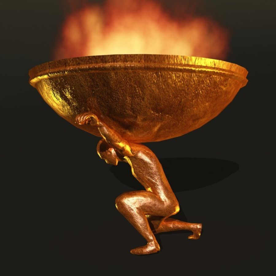 Bronze Statue royalty-free 3d model - Preview no. 5