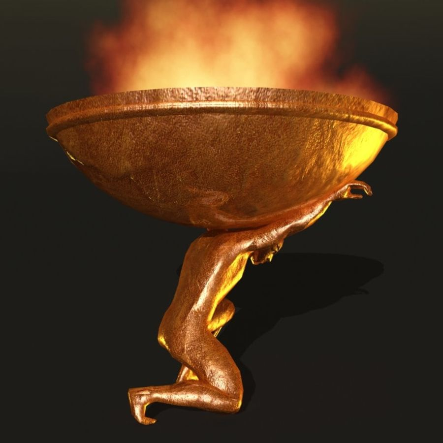 Bronze Statue royalty-free 3d model - Preview no. 9
