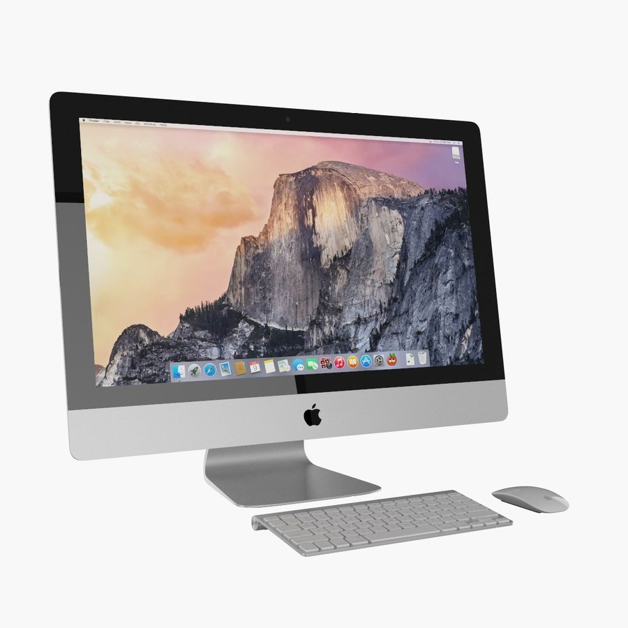 Apple iMac 27 royalty-free 3d model - Preview no. 1