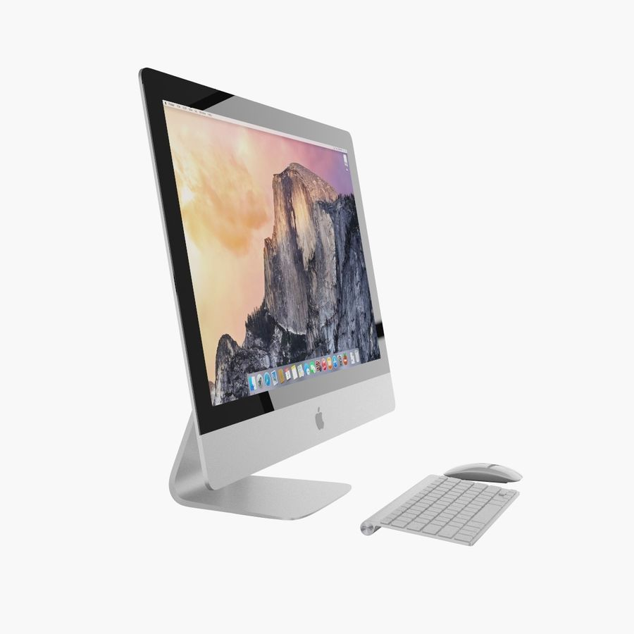 Apple iMac 27 royalty-free 3d model - Preview no. 3