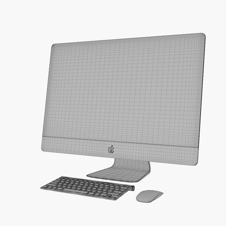 Apple iMac 27 royalty-free 3d model - Preview no. 14
