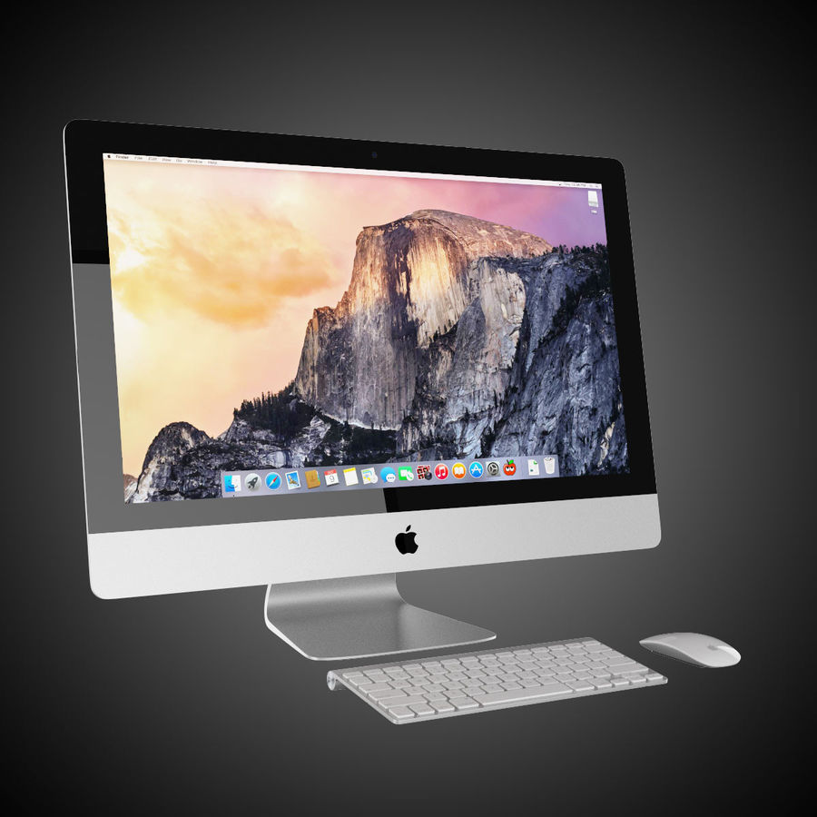 Apple iMac 27 royalty-free 3d model - Preview no. 2