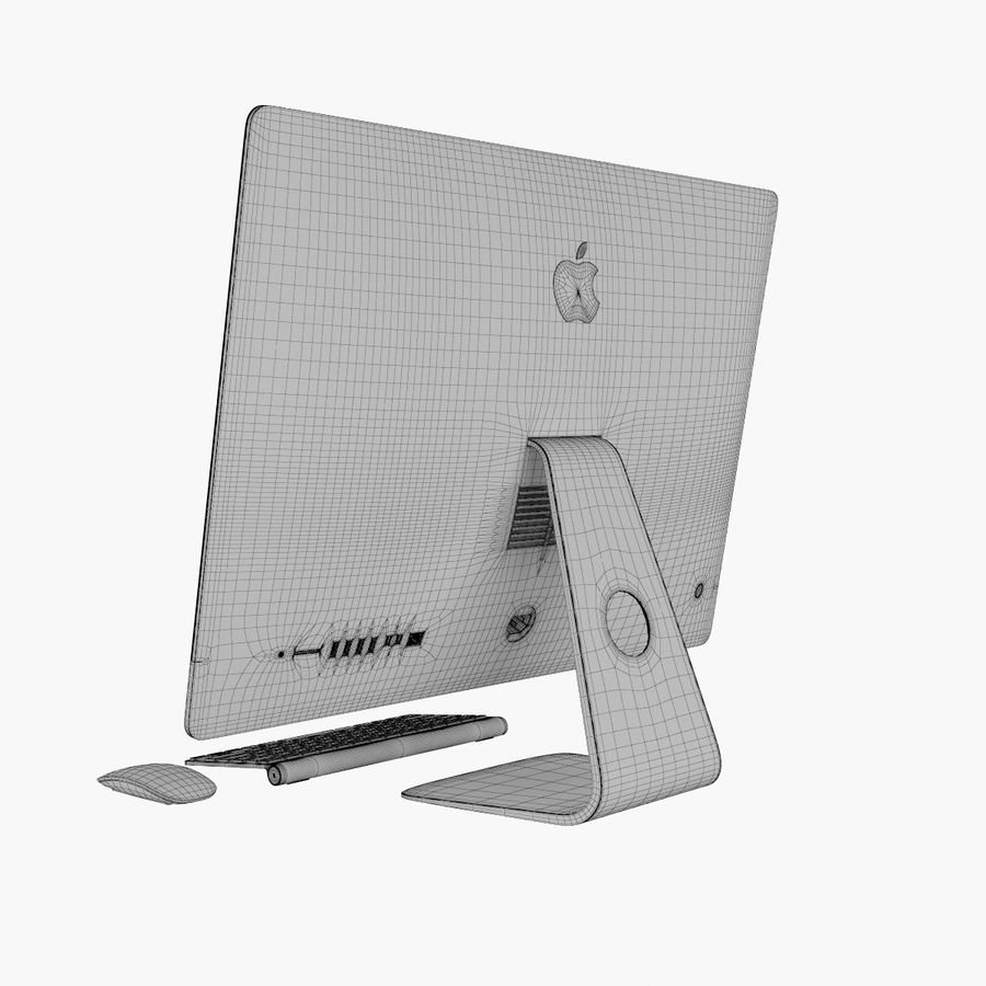 Apple iMac 27 royalty-free 3d model - Preview no. 13