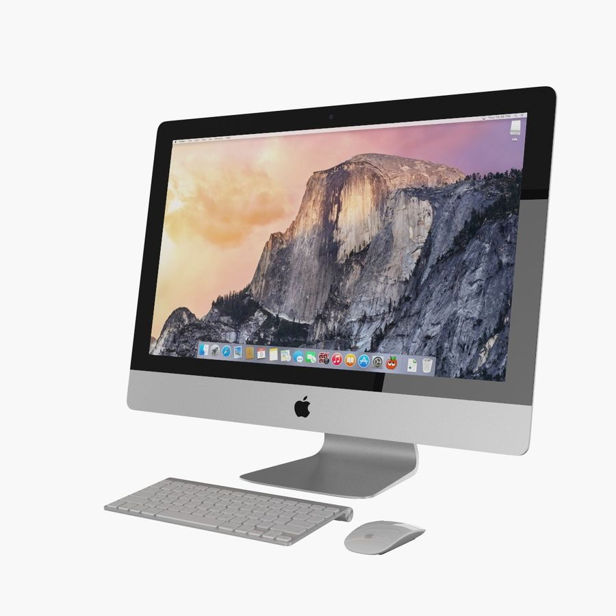 Apple iMac 27 royalty-free 3d model - Preview no. 9