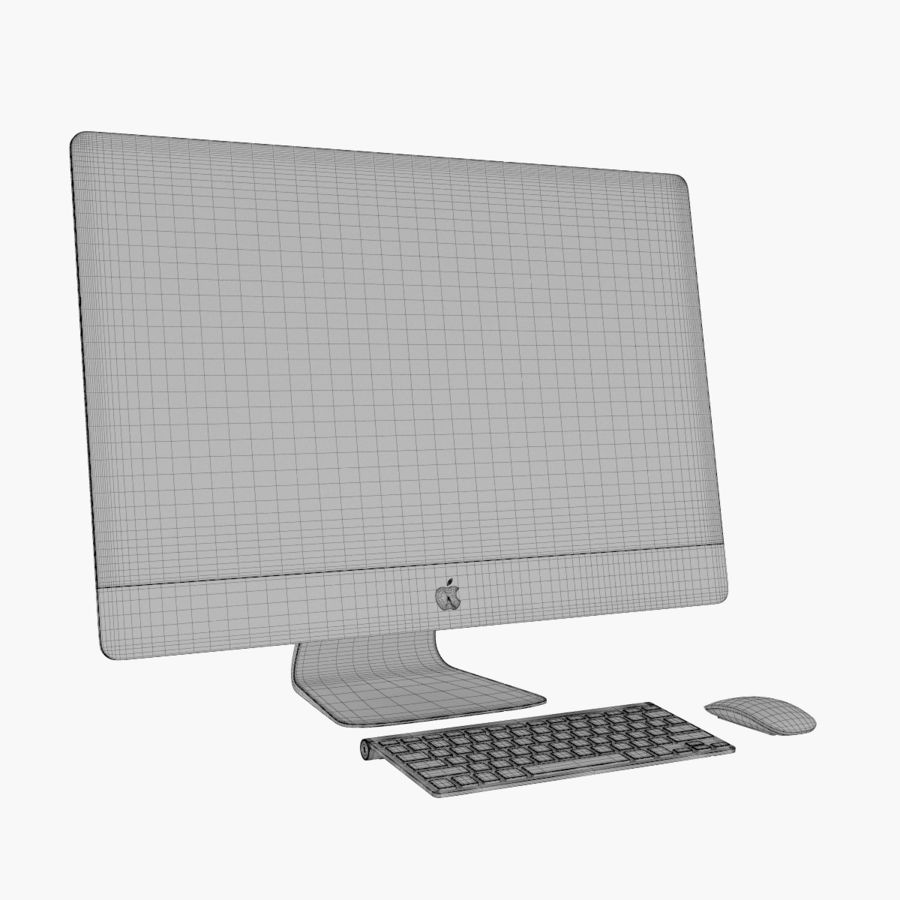 Apple iMac 27 royalty-free 3d model - Preview no. 11