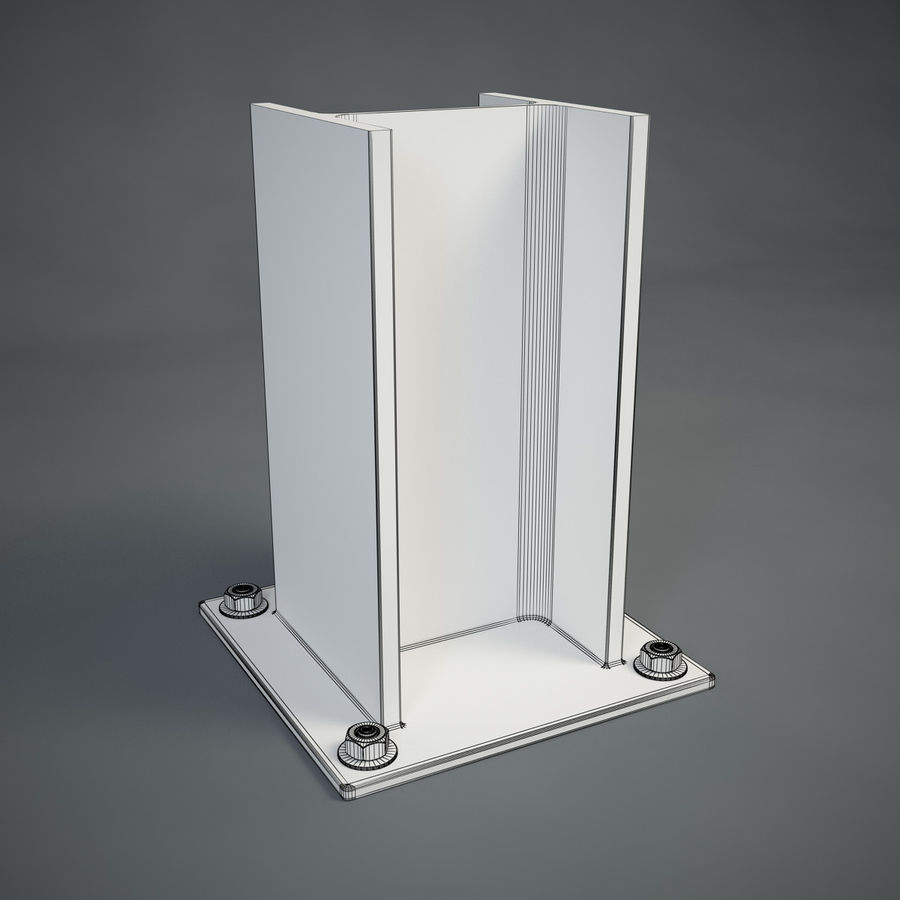 HEB 200 beam royalty-free 3d model - Preview no. 7