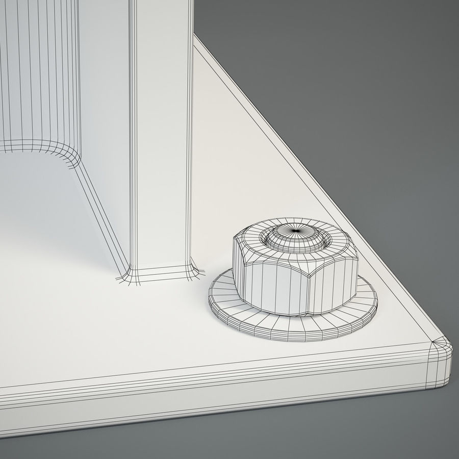 HEB 200 beam royalty-free 3d model - Preview no. 9