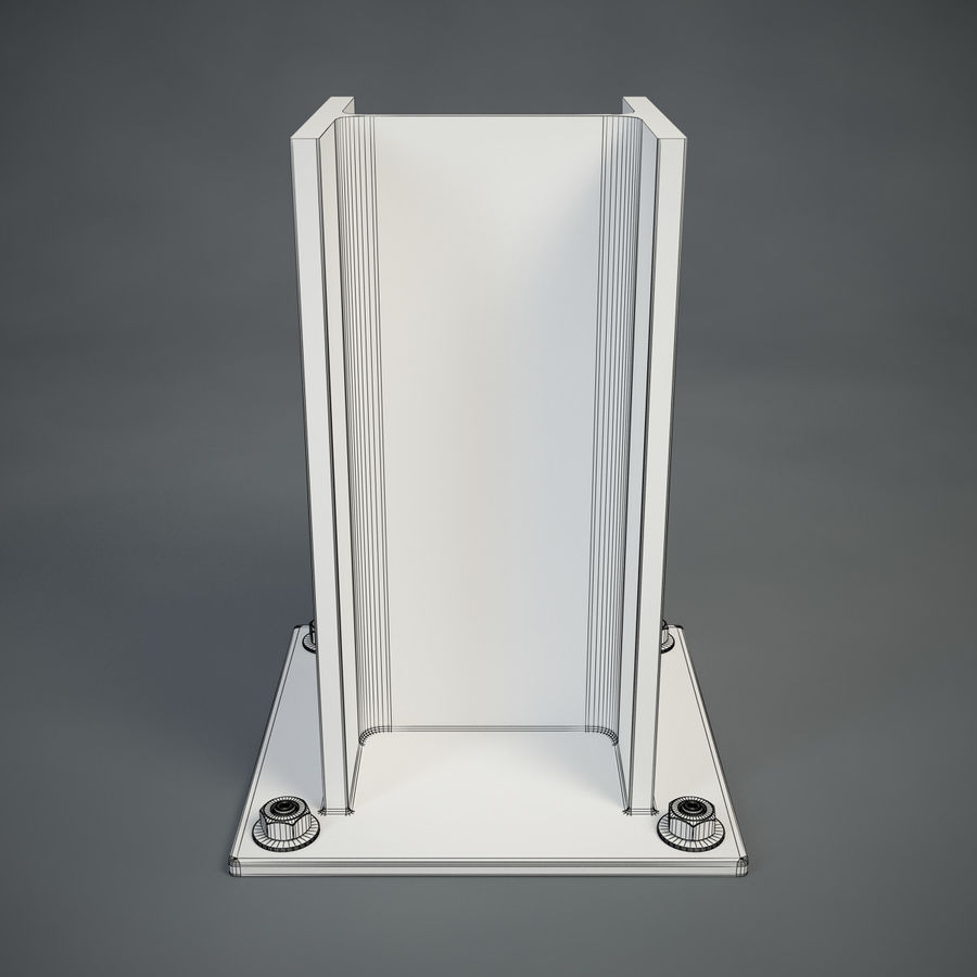 HEB 200 beam royalty-free 3d model - Preview no. 8
