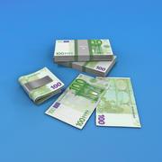 100 euro rachunków 3d model