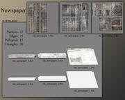 Newspapers 3d model