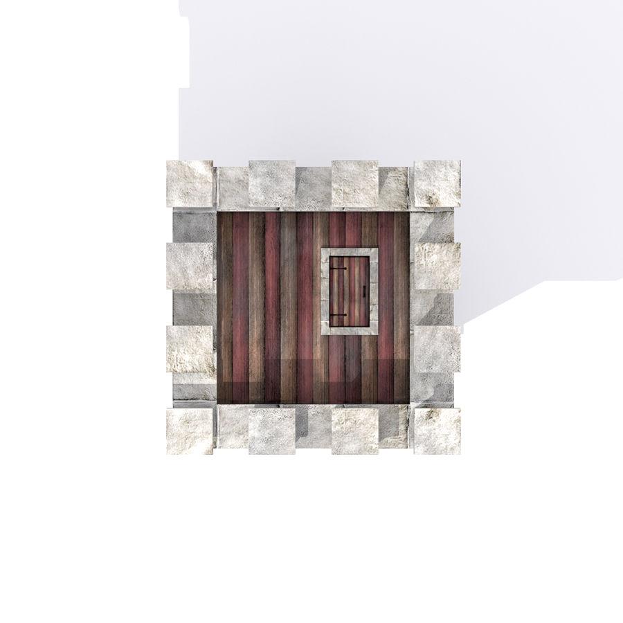 Zamek Średniowieczna Wieża Wieża 1 royalty-free 3d model - Preview no. 6