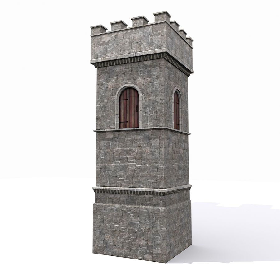 Zamek Średniowieczna Wieża Wieża 1 royalty-free 3d model - Preview no. 2