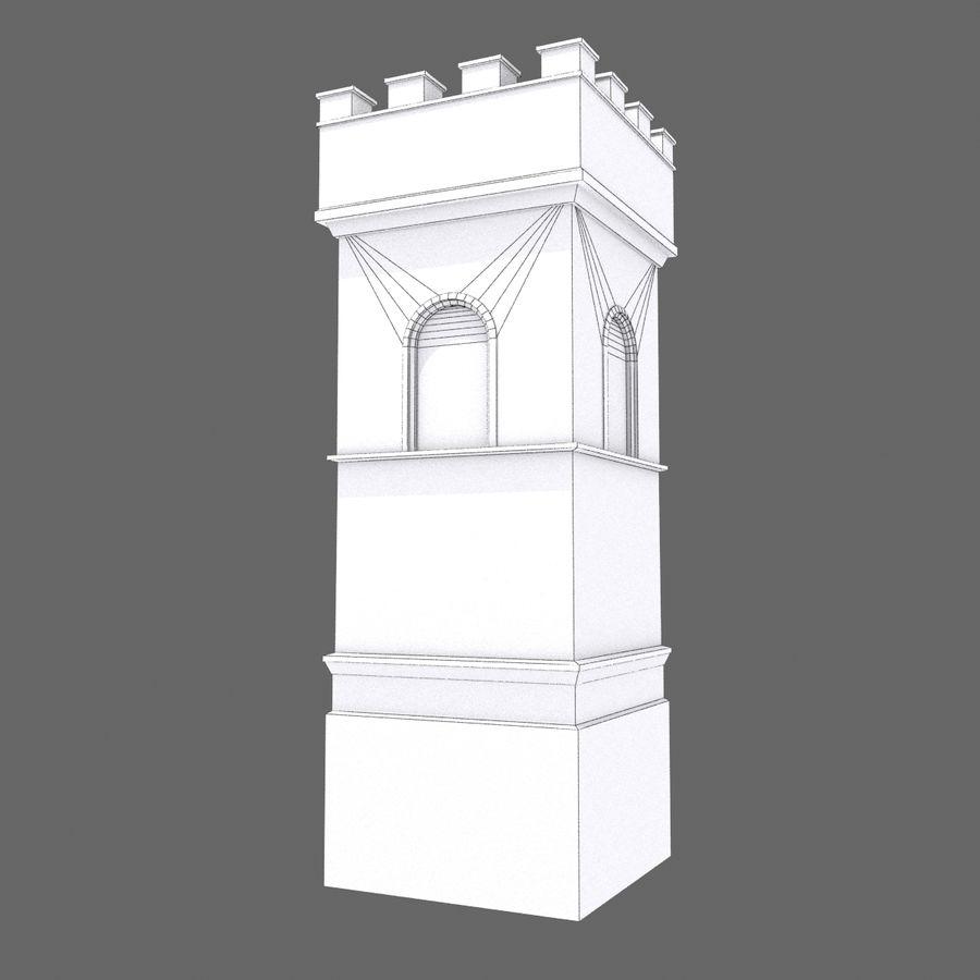 Zamek Średniowieczna Wieża Wieża 1 royalty-free 3d model - Preview no. 8