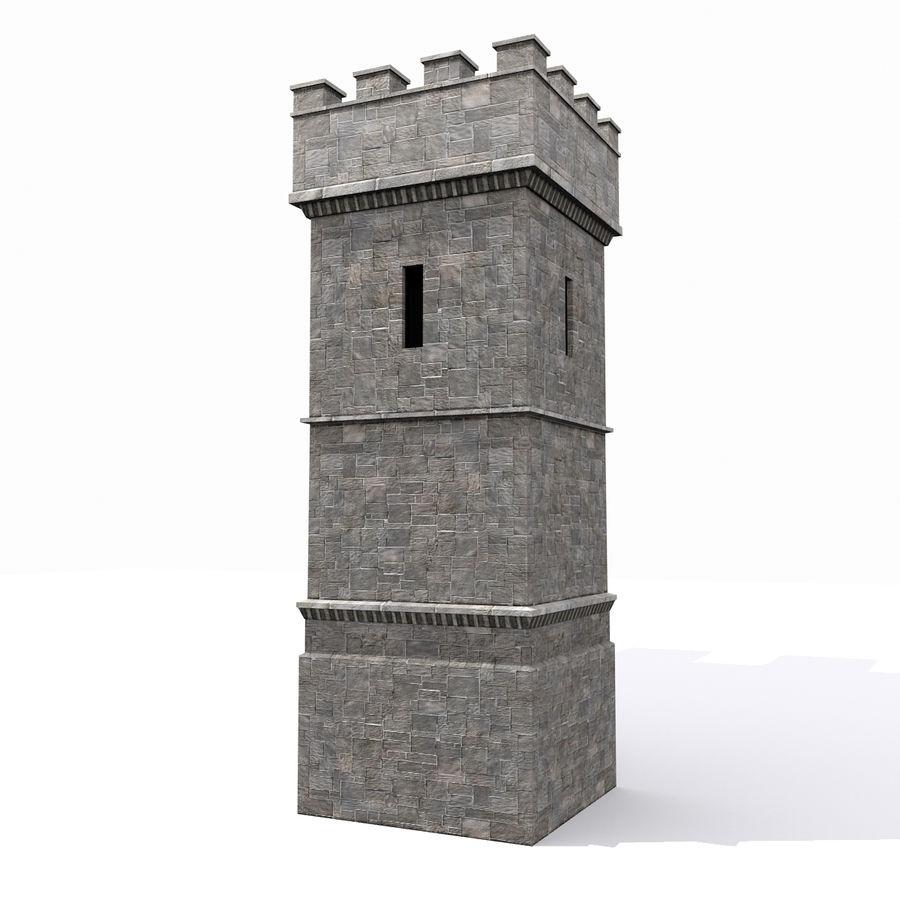 Zamek Średniowieczna Wieża Wieża 1 royalty-free 3d model - Preview no. 4