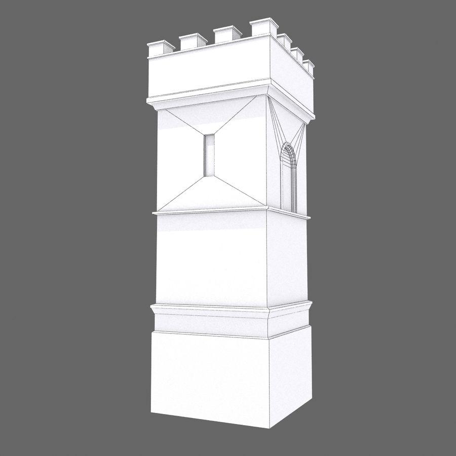 Zamek Średniowieczna Wieża Wieża 1 royalty-free 3d model - Preview no. 7