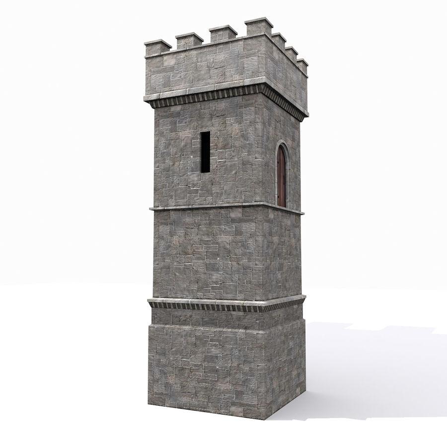 Zamek Średniowieczna Wieża Wieża 1 royalty-free 3d model - Preview no. 1