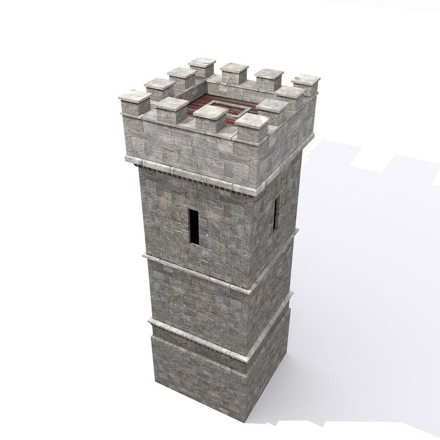 Zamek Średniowieczna Wieża Wieża 1 royalty-free 3d model - Preview no. 5