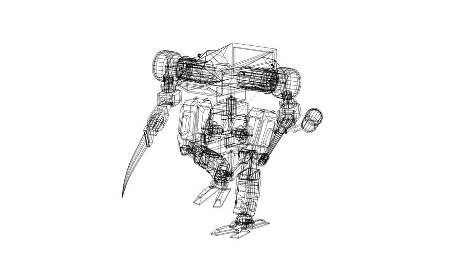 Mech royalty-free 3d model - Preview no. 11