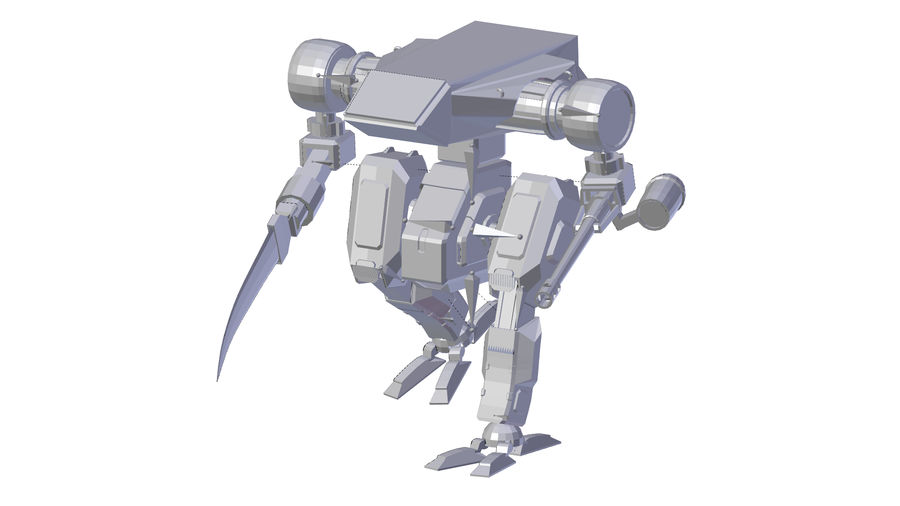 Mech royalty-free 3d model - Preview no. 10