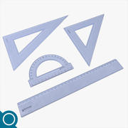 Plastikowe linijki 3d model