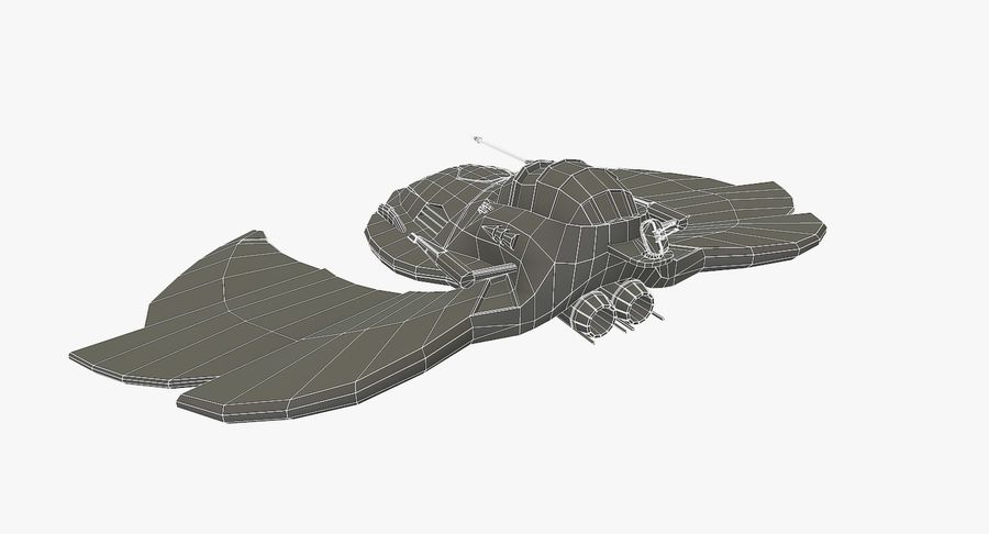 Starship Fighter royalty-free 3d model - Preview no. 11