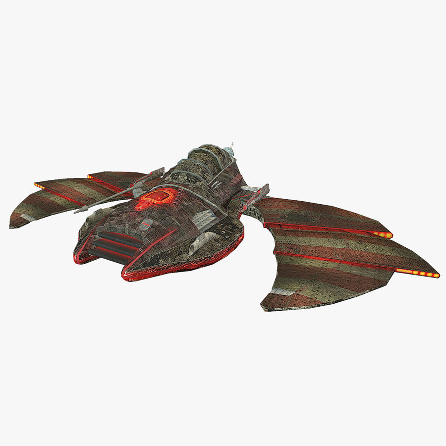 Starship Fighter royalty-free 3d model - Preview no. 1