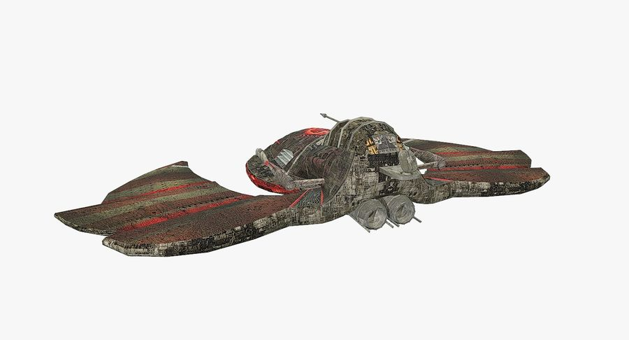 Starship Fighter royalty-free 3d model - Preview no. 4
