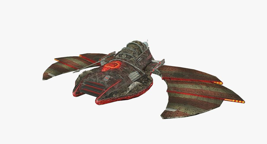 Starship Fighter royalty-free 3d model - Preview no. 2