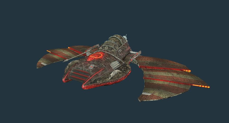 Starship Fighter royalty-free 3d model - Preview no. 3