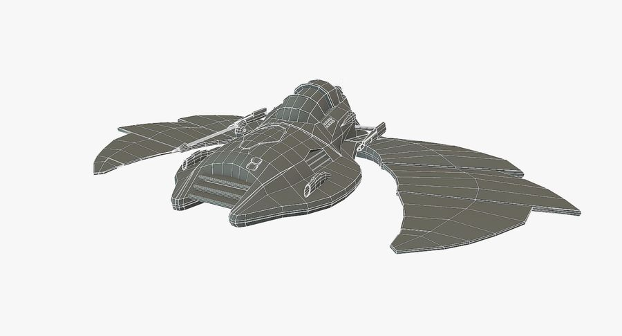 Starship Fighter royalty-free 3d model - Preview no. 10