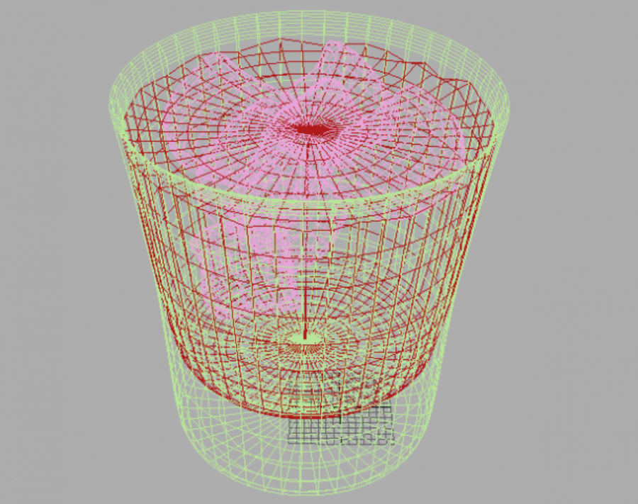 Glass of whiskey royalty-free 3d model - Preview no. 3